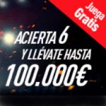 acierta 6 pronósticos y llévate hasta 100.000€