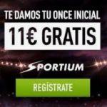 11€ gratis en Sportium con tu registro logo